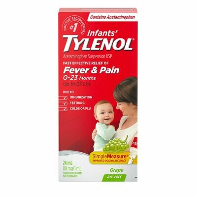 Tylenol Infant Dye Free Grape 24ML 0-23 Months