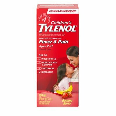 Tylenol Children Banana Berry 100ml