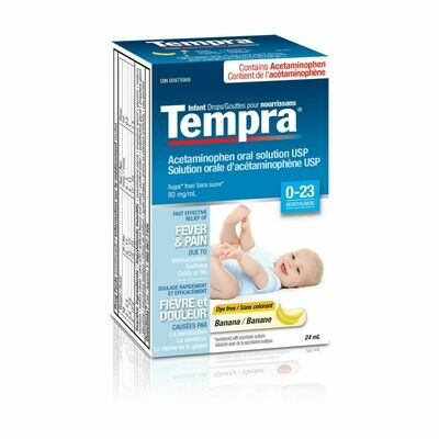 Tempra Drops 80mg/ml Banana 24ML