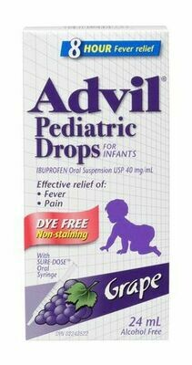 Advil Pediatric Drops Dye Free Grape 24ML