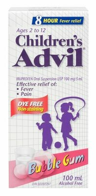 Advil Children's Bubble Gum Dye Free 100ml-Ages 2-12