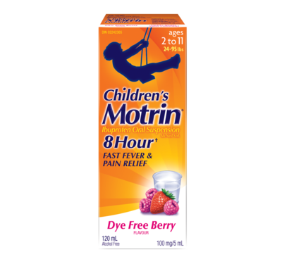 Motrin Children's Dye Free Berry 120ML-Ages 2-12 (24-95lbs)