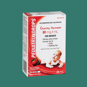 Pediatrix Drops Infants Cherry 80mg/mlx24mL [Generic of Tylenol Infant]