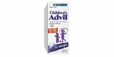 Advil Children's Grape Dye Free 230ML-Ages 2-12