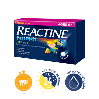 Reactine Allergy Junior Fast Melt Tabletsx24