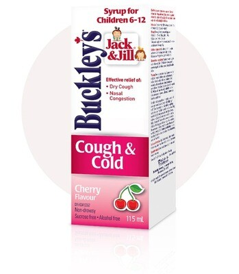 Buckley's Jack & Jill Cough & Cold Daytime Cherry Flavour 115ML