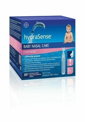 Hydrasense Easy Dose 30x5ML Single Use Vials