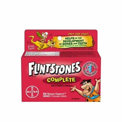 Flintstones Complete Multivitamins Chewable Tablets x 60