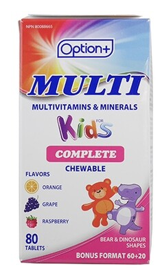KIDS MULTI-VITAMIN CHEWS TABLETS 80
