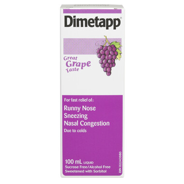Dimetapp Cold Liquid Grape 100ML