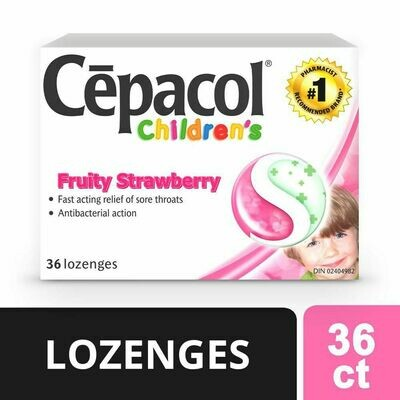 Cepacol® Children's Fruity Strawberry, Sore Throat Lozenges 36