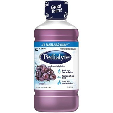 Pedialyte Electrolyte Drink Oral Rehydration Solution Grape 1L