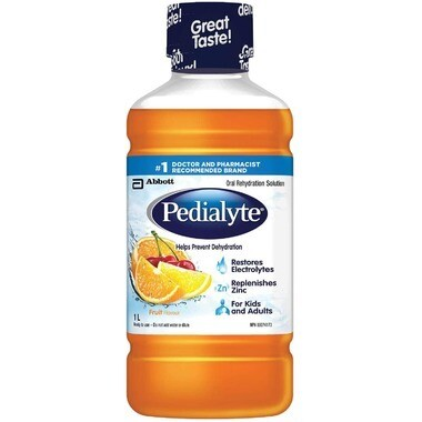 Pedialyte Electrolyte Drink Oral Rehydration Solution Fruit 1L
