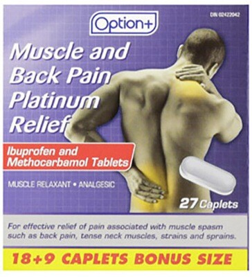 Option+ MUSCLE AND BACK PLATINUM CAPLETS 18+9 [Generic Brand]