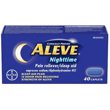 Aleve Nighttime Pain Reliever & Sleep Aid 40 Caplets