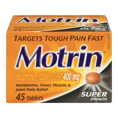 Motrin Tablets Super Strength 400mg x 45