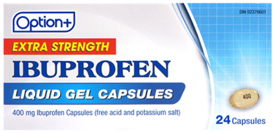 Option+ IBUPROFEN LIQUID GEL 400MG 24 [GENERIC BRAND]