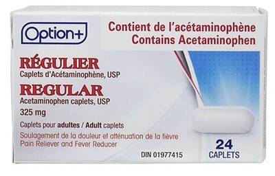 Option+ ACETAMINOPHEN CAPLETS 325MG 24 [GENERIC BRAND]