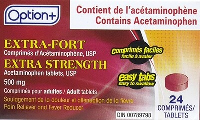 Option+ ACETAMINOPHEN ETS TABS 500MG 24
