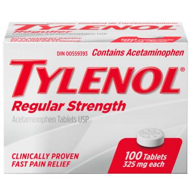 Tylenol Regular Strength 325mg Tablets x100