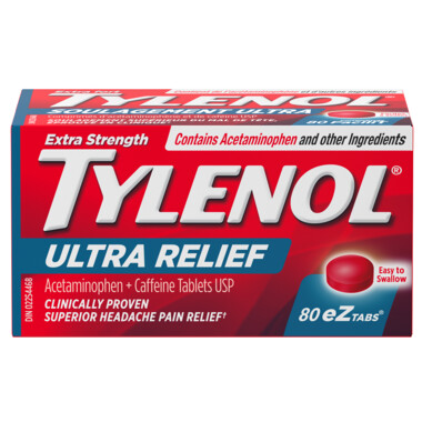 Tylenol Ultra Relief Tough on Headaches eZ Tabs x80