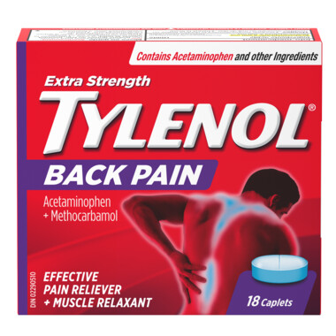 Tylenol Back Pain Extra Strength Caplets x18