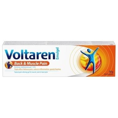 Voltaren Emulgel Back & Muscle Pain 1.16% x 50grams