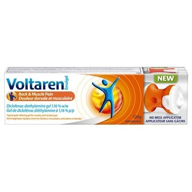 Voltaren Back and Muscle Pain Relief Gel with No Mess Applicator 1.16% x120 grams