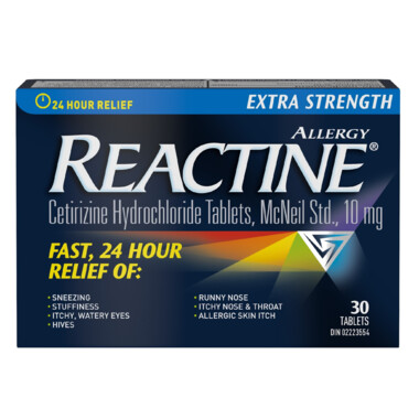 Reactine Extra Strength 30 Tablets