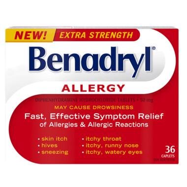 Benadryl Extra Strength x36 Caps