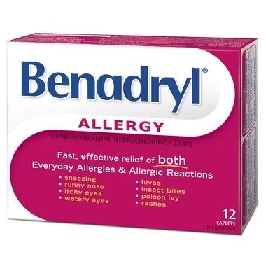 Benadryl Allergy Caplets x12