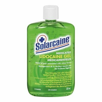 Solarcaine Medicated Aloe X6 Pdq Lidocaine Gel