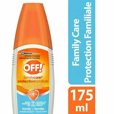 OFF! Family Care Mosquito Insect Repellent Pump Spray, Summer Splash, 175ml