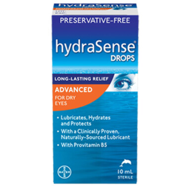 HydraSense Advanced Eye Drops For Dry Eyes Preservative Free 10ML