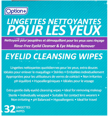 Option+ EYELID CLEANSING WIPES 32