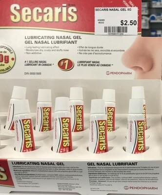 Secaris Lubricating Nasal Gel 5 Grams
