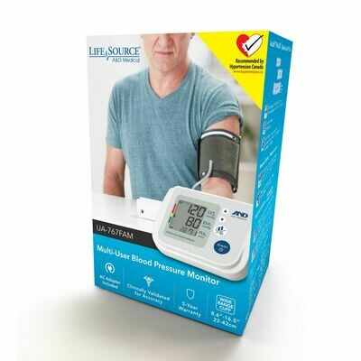 LifeSource Multi-user Blood Pressure Monitor UA-767FAM