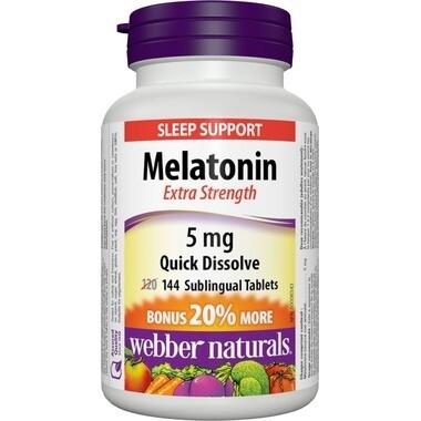 Webber Naturals Melatonin 5mg Fast Dissolving Tablets x144