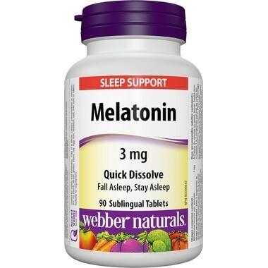 Webber Naturals Melatonin 3mg Fast Dissolving Tablets x90