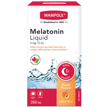 Wampole Melatonin Liquid Natural Peach Flavor 350ML