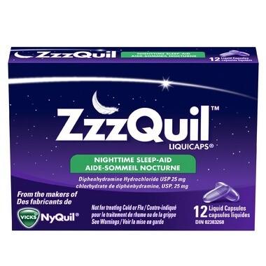 ZzzQuil Liquicaps Sleep-Aid x24 capsules