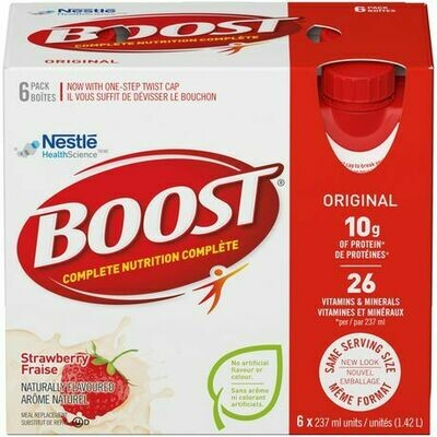 BOOST® Original Strawberry Meal Replacement Drink 6x237ML