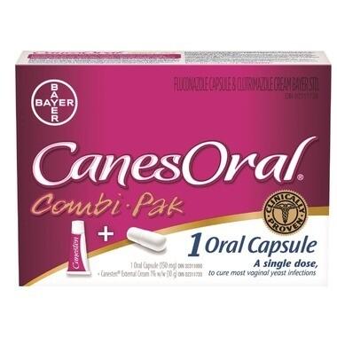 CanesOral Combi-Pak Single Dose (1 Oral Capsule & 10 g Canesten External Cream)