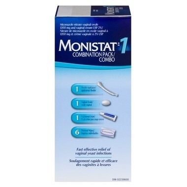 MONISTAT 1 Combination Pack (1 ovule, creams, wipes)