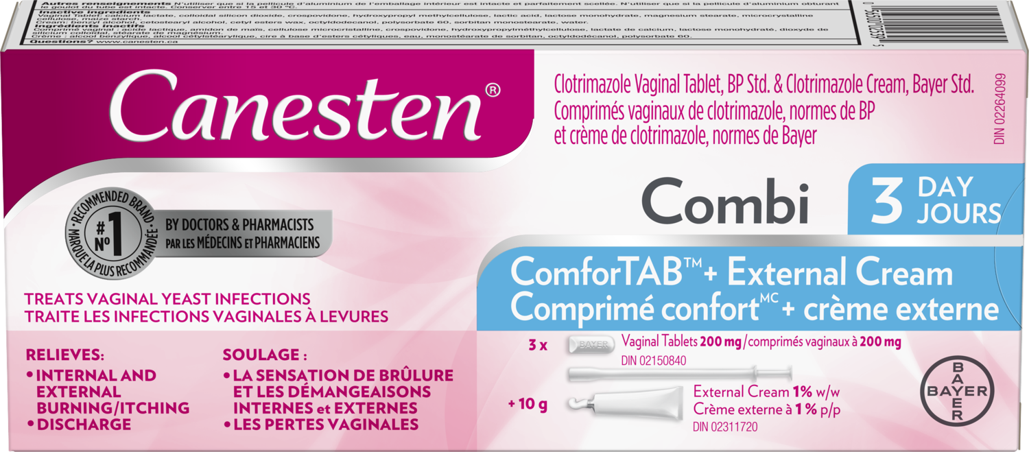Canesten 3-Day Combi Pak Yeast Infection Tablet + Cream