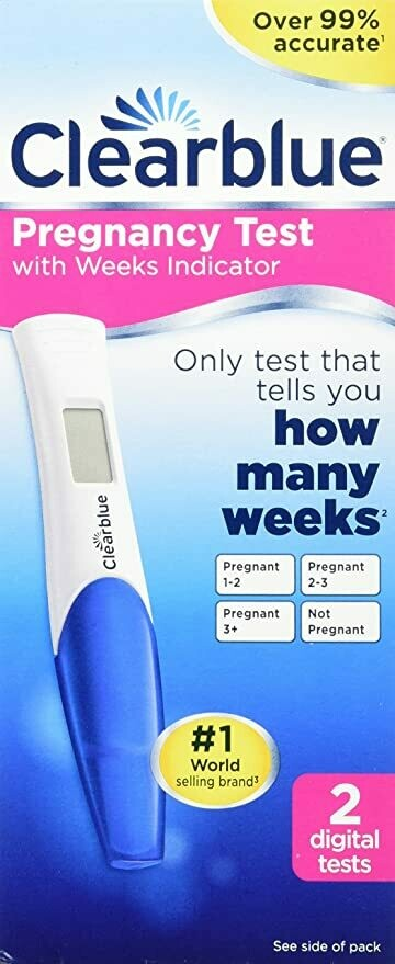 Clearblue Pregnancy Test with Weeks Indicator, 2 Count