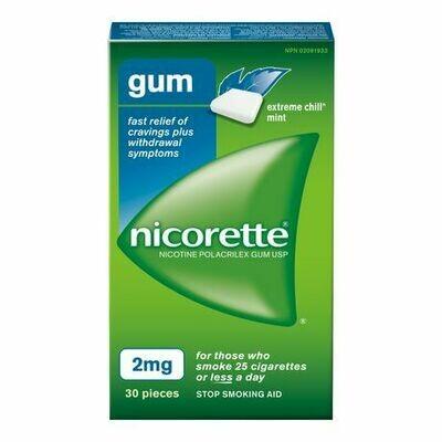 Nicorette Gum, Extreme Chill Mint, 2mg (30 Pieces)