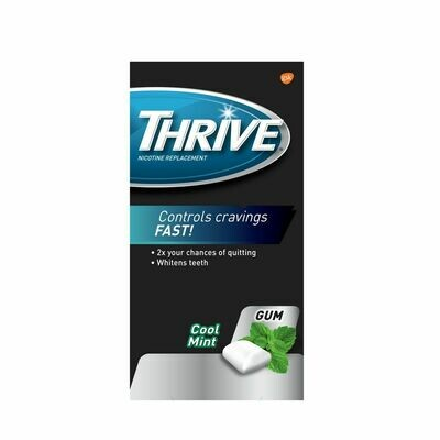 Thrive Gum 4mg Extra Strength Nicotine Replacement Cool Mint (36 Pieces)
