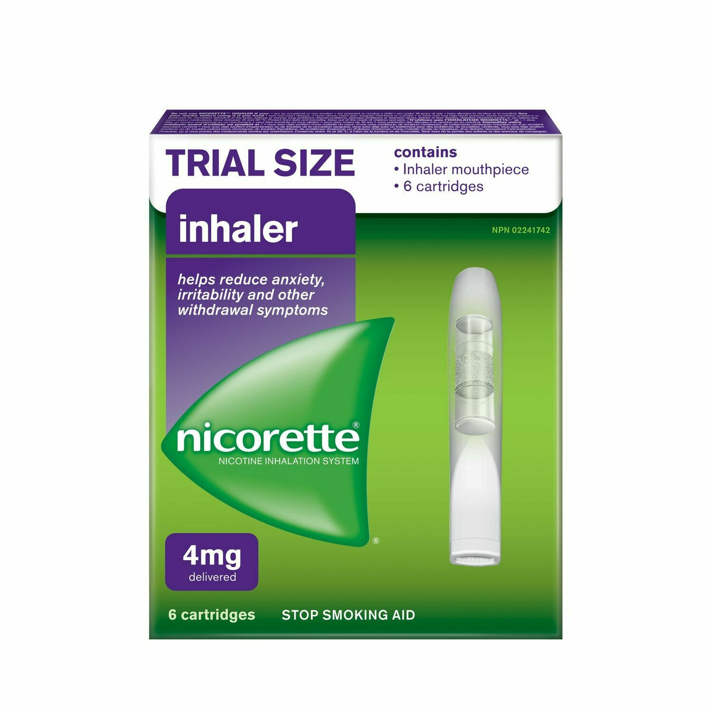 Nicorette® Stop Smoking Aid Inhaler (6 cartridges,4mg)