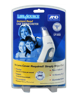 LifeSource Ear Thermometer UT302